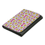 Smiley Daisy Flowers Pattern Pink Yellow Wallets