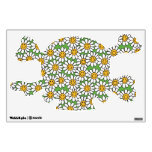 Smiley Daisy Flowers Pattern Room Decal