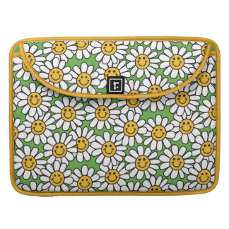 Smiley Daisy Flowers Pattern Sleeve For MacBook Pro