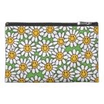 Smiley Daisy Flowers Pattern Travel Accessory Bag
