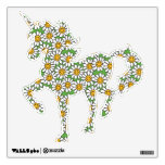 Smiley Daisy Flowers Pattern Wall Decals