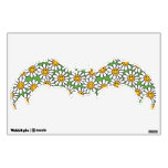 Smiley Daisy Flowers Pattern Wall Skins