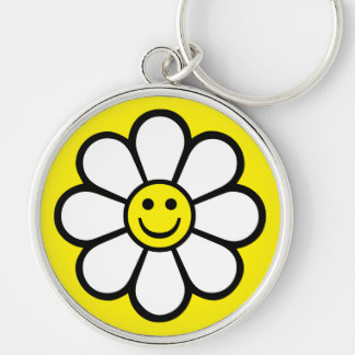 Smiley Daisy Keychain