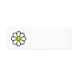 Smiley Daisy Return Address Label