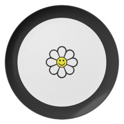 Smiley Daisy Party Plate