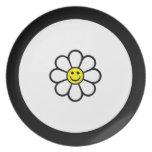 Smiley Daisy Plates