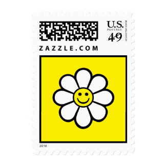 Smiley Daisy Postage Stamp