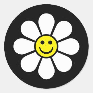 Smiley Daisy Stickers