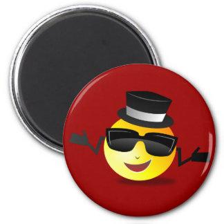 Smiley: Dapper Smiley Magnet