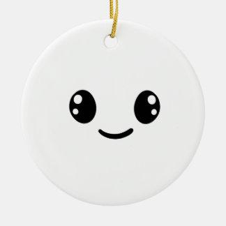 Smiley Day Ceramic Ornament