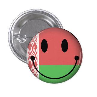 Smiley de Bielorrusia Pin Redondo De 1 Pulgada