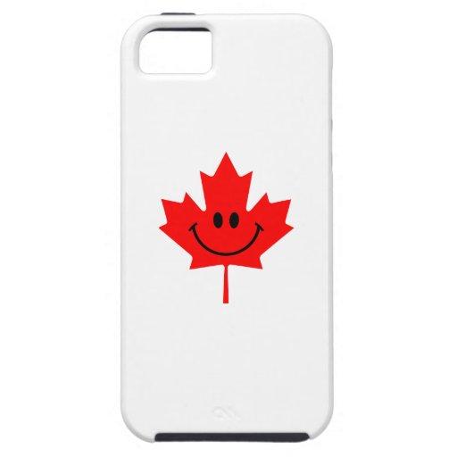 Smiley de Canadá - una cara sonriente en arce rojo iPhone 5 Case-Mate Cárcasa