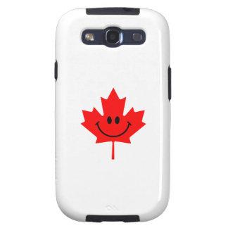 Smiley de Canadá - una cara sonriente en arce rojo Galaxy S3 Fundas