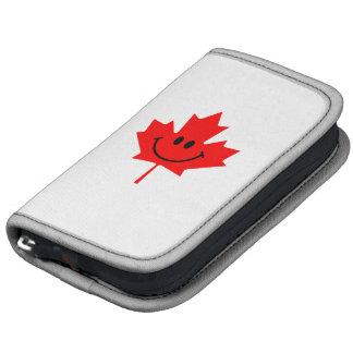 Smiley de Canadá - una cara sonriente en arce rojo Planificadores