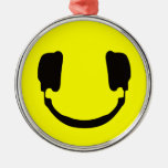 Smiley de DJ Adorno Navideño Redondo De Metal