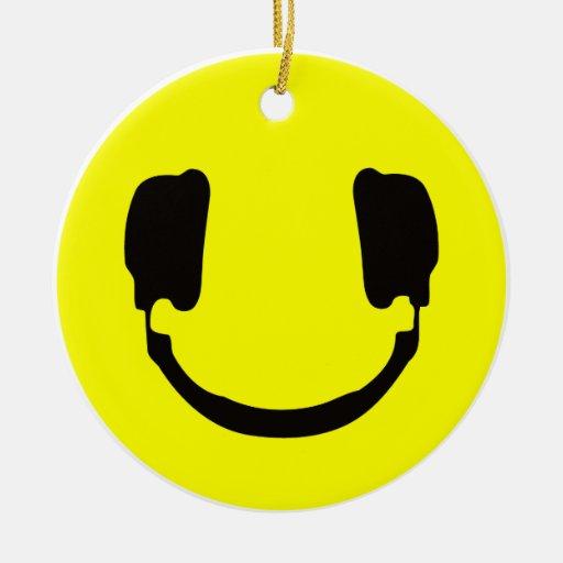 Smiley de DJ Adorno Redondo De Cerámica