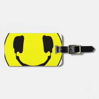 Smiley de DJ Etiquetas Maleta