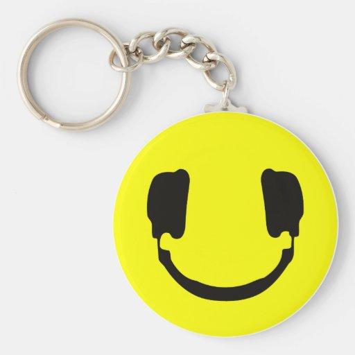 Smiley de DJ Llavero Personalizado