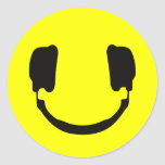 Smiley de DJ Pegatina Redonda
