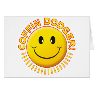 Smiley de Dodger del ataúd Tarjetón