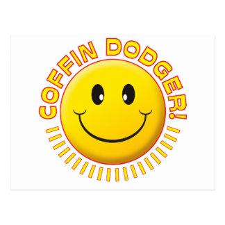 Smiley de Dodger del ataúd Tarjetas Postales