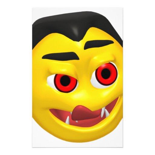 Smiley de Drácula Papelería Personalizada
