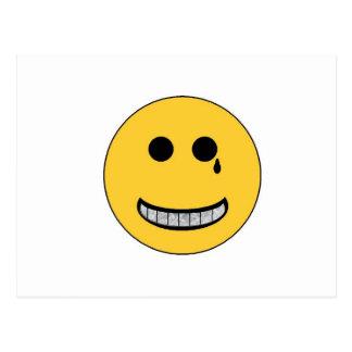 Smiley de Gangsta Tarjetas Postales