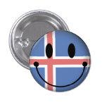Smiley de Islandia Pin
