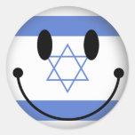 Smiley de Israel Etiqueta Redonda