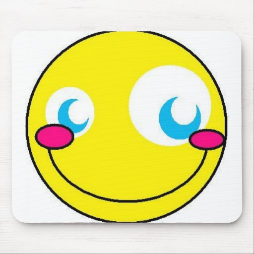 Smiley de Kawaii Alfombrillas De Ratón