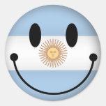 Smiley de la Argentina Pegatinas Redondas