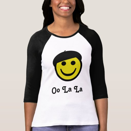 Smiley de la boina playeras