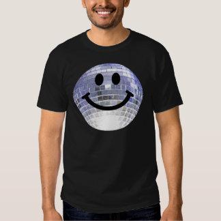 Smiley de la bola de discoteca camisas