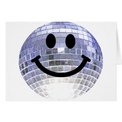 Smiley de la bola de discoteca felicitacion