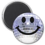 Smiley de la bola de discoteca iman