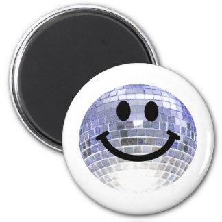 Smiley de la bola de discoteca imán de frigorífico