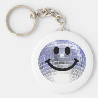 Smiley de la bola de discoteca llavero personalizado