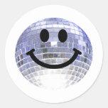 Smiley de la bola de discoteca pegatina
