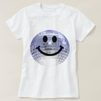 Smiley de la bola de discoteca poleras