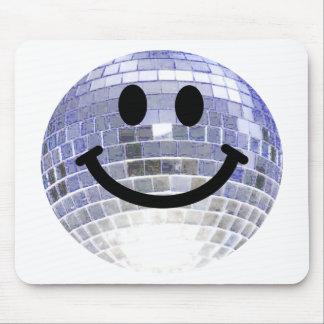 Smiley de la bola de discoteca tapete de ratón