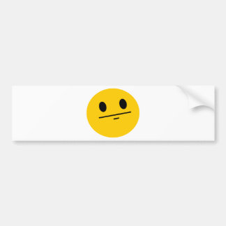 Smiley de la cara de póker etiqueta de parachoque