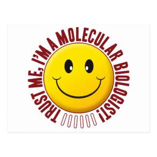Smiley de la confianza del biólogo molecular postal