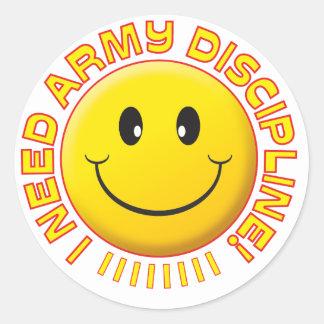 Smiley de la disciplina de ejército