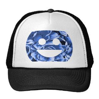 Smiley de la flor azul