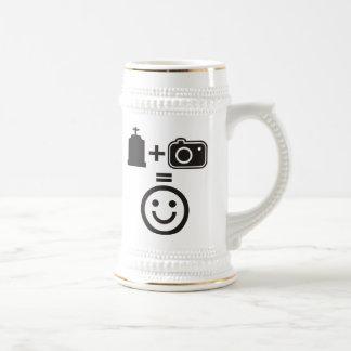 Smiley de la fotografía del cementerio jarra de cerveza