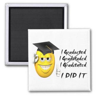 Smiley de la graduación lo hice iman de frigorífico