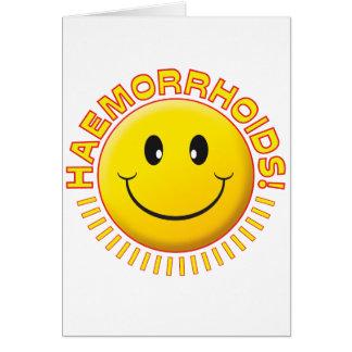 Smiley de la hemorroides tarjeta de felicitación