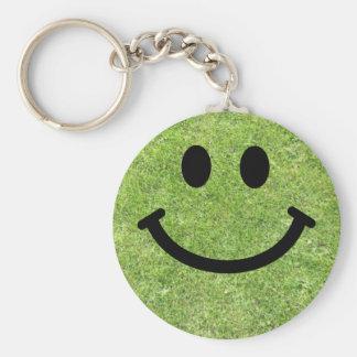 Smiley de la hierba llaveros personalizados