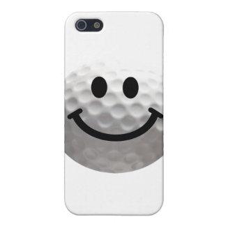 Smiley de la pelota de golf iPhone 5 carcasas