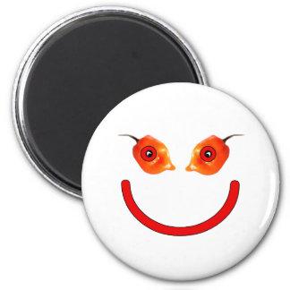 Smiley de la pimienta imán redondo 5 cm